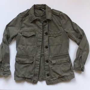 H&M Cargo Utility Military Green Jacket